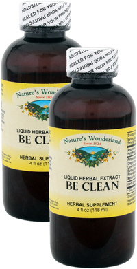 Be Clean Liquid Herbal Extract, 4 fl oz each (Nature's Wonderland)