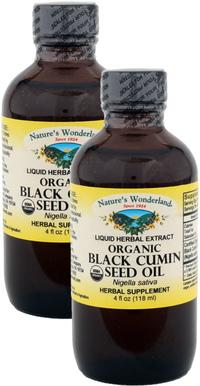 Black Cumin Seed Seed Oil, Organic, 4 fl oz /118 ml each (Nature's Wonderland)