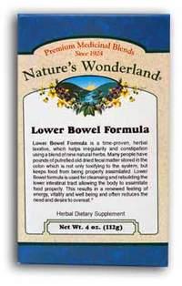 Lower Bowel Formula Powder, 4 oz each (Nature's Wonderland)