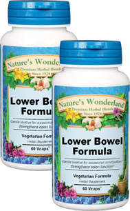 Lower Bowel Formula - 525 mg, 60 Veg Capsules each  (Nature's Wonderland)
