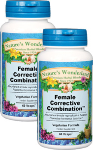 Female Corrective Combination™ - 500 mg, 60 Veg Capsules each  (Nature's Wonderland)