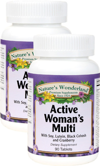 Active Woman Multivitamin, 90 Tablets each (Nature's Wonderland)