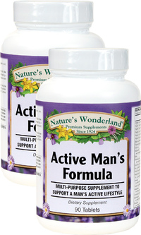 Active Man Multivitamin, 90 Tablets each (Nature's Wonderland)