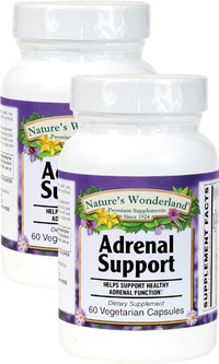 Adrenal Support,  60 Vegetarian Capsules each (Nature's Wonderland)