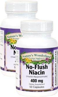 No-Flush Niacin, 50 Capsules each (Nature's Wonderland)