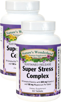 Super Stress B Complex, 60 Tablets each (Nature's Wonderland)