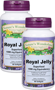 Royal Jelly - 1,000 mg, 60 softgels each (Nature's Wonderland)