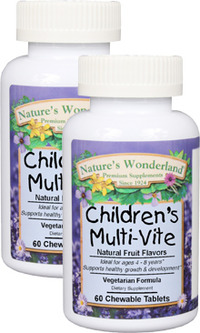Children's Multi-Vite, 60 chewable tablets each (Nature's Wonderland)