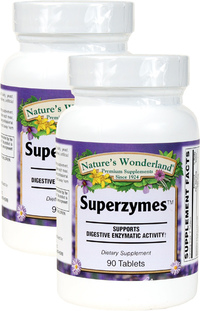 Superzymes, 90 Tablets each (Nature's Wonderland)