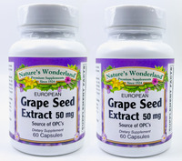 Grape Seed Extract, European - 50 mg, 60 capsules each (Nature's Wonderland)