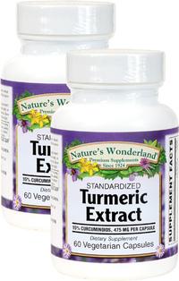 Turmeric Standardized Extract - 475 mg, 60 Vegetarian Capsules each (Nature's Wonderland)
