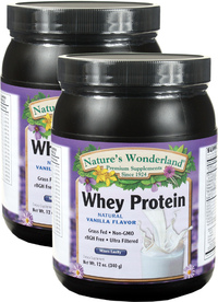 Whey Protein Powder - Vanilla 12 oz/ 340 g each (Nature's Wonderland)