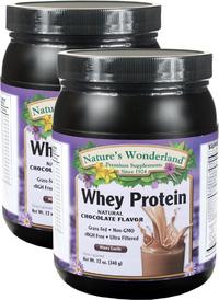 Whey Protein Powder - Chocolate 12 oz/340 g each (Nature's Wonderland)