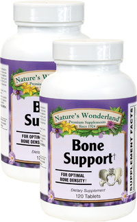 Bone Support, 120 Tablets each (Nature's Wonderland)