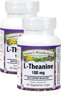 L-Theanine 100 mg, 60 Vegetarian Capsules each (Nature's Wonderland)