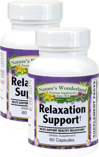 Relaxation Support, 60 Capsules Each (Nature's Wonderland)