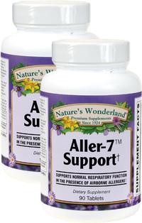 Aller-7 Support, 90 Tablets Each (Nature's Wonderland)