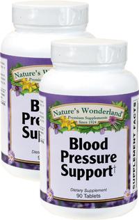 Blood Pressure Support, 90 Tablets Each (Nature's Wonderland)