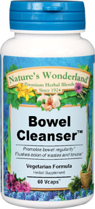 Bowel Cleanser™ - 600 mg, 60 Vcaps (Nature's Wonderland)