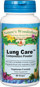 Lung Care™ Composition Blend - 525 mg, 60 Vcaps (Nature's Wonderland)