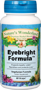 Eyebright Formula™ - 575 mg, 60 Veg Capsules (Nature's Wonderland)