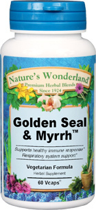 Golden Seal and Myrrh - 800 mg, 60 Veg Capsules (Nature's Wonderland)
