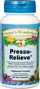 Pressu Relieve® - 500 mg, 60 Veg Capsules (Nature's Wonderland)