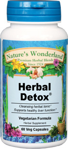Herbal Detox® - 475 mg, 60 Vcaps (Nature's Wonderland)