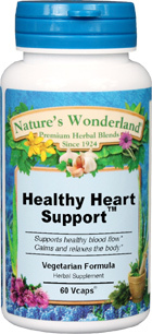 Healthy Heart Support™ - 525 mg, 60 Vcaps (Nature's Wonderland)
