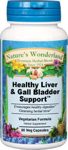 Healthy Liver & Gall Bladder Support™ - 450 mg, 60 Veg Capsules (Nature's  Wonderland)
