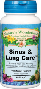 Sinus & Lung Care™ - 525 mg, 60 Veg Capsules (Nature's Wonderland)