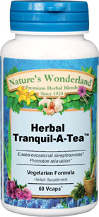 Herbal Tranquil-A-Tea™, 60 Vcaps - 550 mg (Nature's Wonderland)