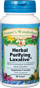 Herbal Purifying Laxative™ - 525 mg, 60 Vcaps (Nature' Wonderland)