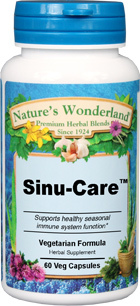 Sinu Care™ - 525 mg  60 Vcaps (Nature's Wonderland)