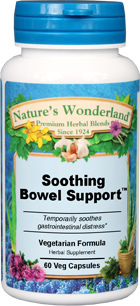 Soothing Bowel Support™ - 550 mg, 60 Vcaps (Nature's Wonderland)