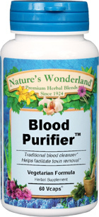 Blood Purifier™ - 450 mg, 60 Veg Capsules (Nature's Wonderland)