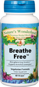 Breathe Free™- 450 mg, 60 Vcaps (Nature's Wonderland)