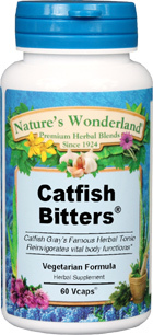 Catfish Bitters™ - 525 mg, 60 Veg Caps (Nature's Wonderland)