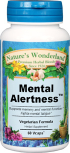 Mental Alertness™ - 450 mg, 60 Vcaps  (Nature's Wonderland)