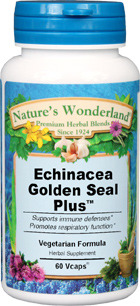 Echinacea Goldenseal Plus™ - 525 mg, 60 Vcaps™ (Nature's Wonderland)