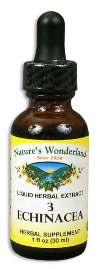 3 Echinacea Liquid Extract, 1 fl oz (Nature's Wonderland)