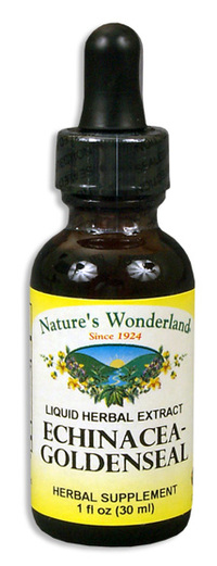 Echinacea  Goldenseal Liquid Extract, 1 fl oz / 30ml (Nature's Wonderland)
