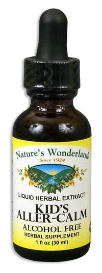 Kids Aller Calm Liquid Extract, 1 fl oz/ 30 ml (Nature's Wonderland)
