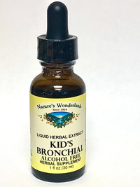 Kid's Bronchial Liquid Extract (formerly Kid's Cough), 1 fl oz / 30 ml  (Nature's Wonderland)