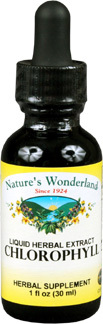 Chlorophyll Liquid, 1 fl oz / 30ml (Nature's Wonderland)