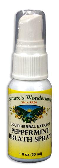 Peppermint Breath Spray, 1 fl oz (Nature's Wonderland)