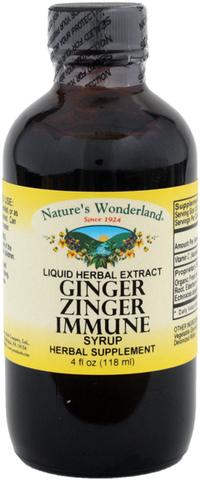 Ginger Zinger Immune Syrup, 4 fl oz (Nature's Wonderland)