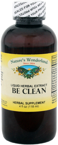 Be Clean Liquid Herbal Extract, 4 fl oz (Nature's Wonderland)