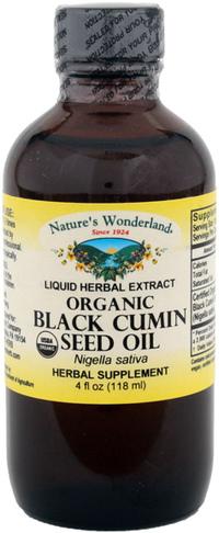 Black Cumin Seed Oil, Organic, 4 fl oz /118 ml (Nature's Wonderland)
