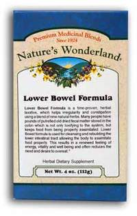 Lower Bowel Formula Powder, 4 oz (Nature's Wonderland)